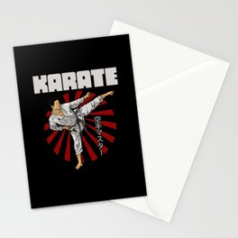 Karate Fighter Stationery Cards