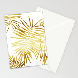Tropical Palm Fronds in Gold Stationery Cards