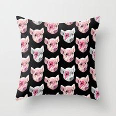 Swine! Throw Pillow