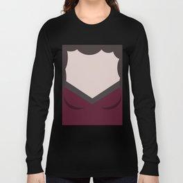 Deanna Troi - Minimalist Star Trek TNG The Next Generation - 1701 D - startrek - Trektangles Long Sleeve T-shirt
