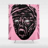 horror Shower Curtains featuring Horror by Olivier Carignan