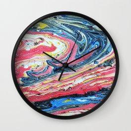 Suminagashi 10 Wall Clock