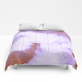 DREAMY PINK AND WHITE RAINBOW CLOUDS Comforters