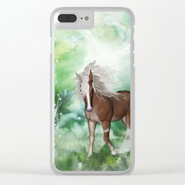 Beautiful horse Clear iPhone Case