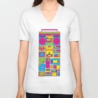 90s V-neck T-shirts featuring 90s by sknny