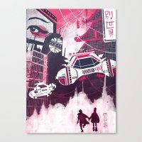 blade runner Canvas Prints featuring Blade Runner by Noah MacMillan