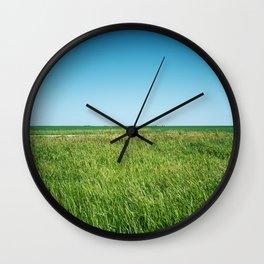 Saskatchewan Prairies Wall Clock
