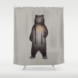 Land of the Brown Bear Shower Curtain
