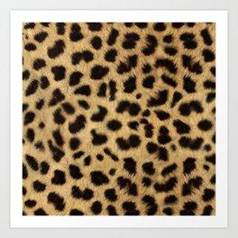 Faux Cheetah Skin Design Art Print