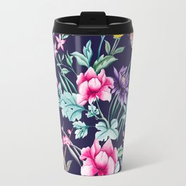 Chinoiserie french navy floral Travel Mug