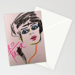 Flapper babe Stationery Cards