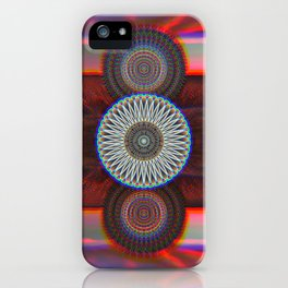 Three Mandalas iPhone Case
