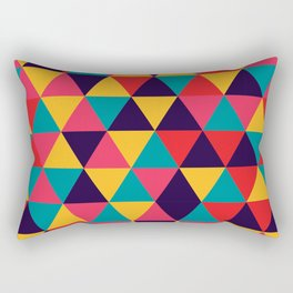 Colorful Triangles (Bright Colors) Rectangular Pillow