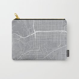Pasadena Map, California USA - Pewter Carry-All Pouch
