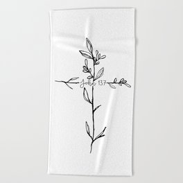 John 13:7 Cross Beach Towel