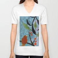nemo V-neck T-shirts featuring Little Nemo Bird  by Robin Maria Pedrero