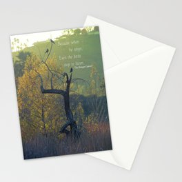 When He Sings... Stationery Cards