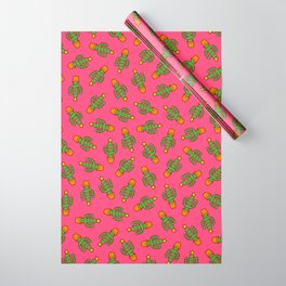 Cactus Christmas Tree in Pink Wrapping Paper