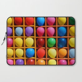 colorful balloons in wooden boxes, attraction Laptop Sleeve