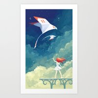freeminds Art Prints featuring Flyby by Freeminds
