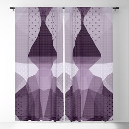 The Japanese Princess - Abstract Grey Lavender Blackout Curtain