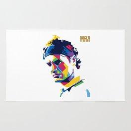 RF Roger Federer Tennis Rug