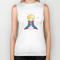 the little prince Biker Tanks featuring Kokeshi The little prince by Pendientera