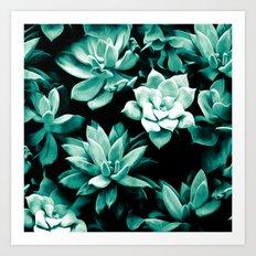 Succulent PATTERN III Art Print
