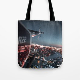 helicopter in london Tote Bag