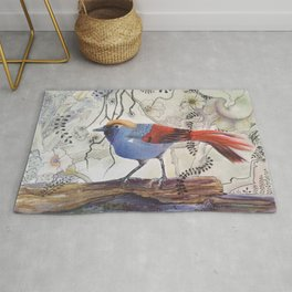 Just Be: Red-Tailed Laughing Thrush Rug