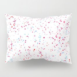 Pink teal watercolor hand painted paint splatters Pillow Sham