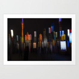 Shanghai Skyline II Art Print