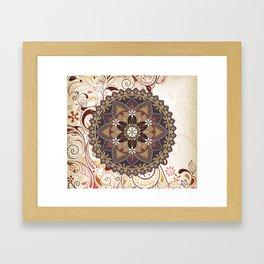 circular pattern Framed Art Print