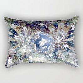 Space Odyssey - Big Blue Marble Rectangular Pillow