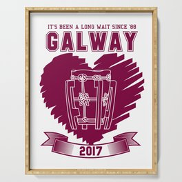 All Ireland Senior Hurling Champions: Galway (White/Maroon) Serving Tray