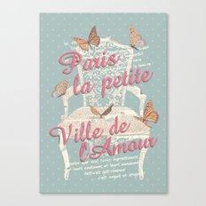 PAIRIS - ville de l'amour Canvas Print