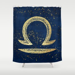 Libra Zodiac Sign Shower Curtain