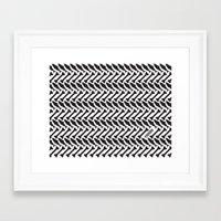herringbone Framed Art Prints featuring Herringbone by Erik Mace