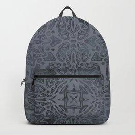 Vintage Modern Kelim Pattern Dark Grey Backpack