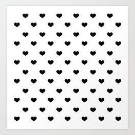 Polka Dot Hearts Art Print