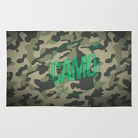 camo Area & Throw Rugs featuring Camo by GabrieleCigna