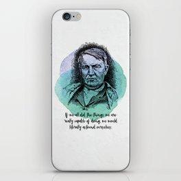 Thomas Edison - Science Portrait - Astound Ourselves iPhone Skin