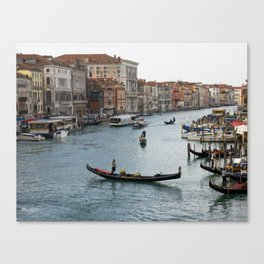 Gondolas in the Grand Canal in Venice Canvas Print