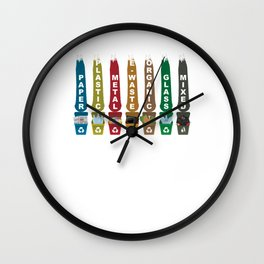 Recycle Garbage Wall Clock