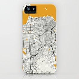San Francisco map iPhone Case