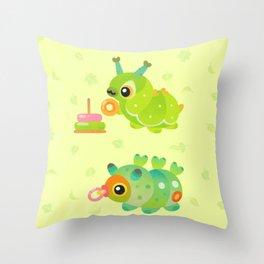 Baby Caterpillar Throw Pillow