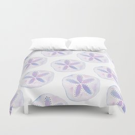 Mermaid Currency - Purple Sand Dollar Duvet Cover