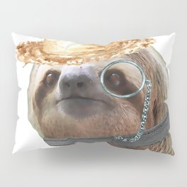 Sloth Monacle straw Sloths In Clothes Pillow Sham