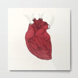 Heart is Metal Print