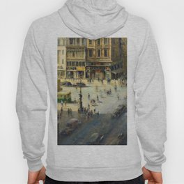 American Masterpiece 'Greenwich Village, NY' by Alfred S. Mira Hoody